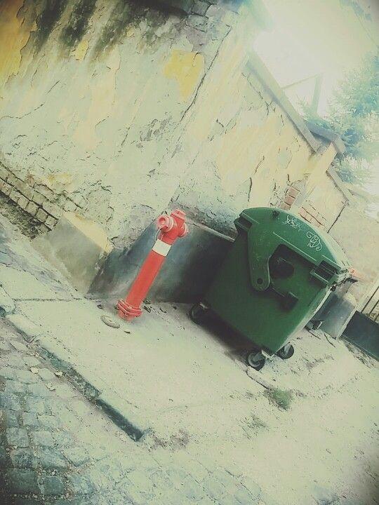#street #ruined #trash