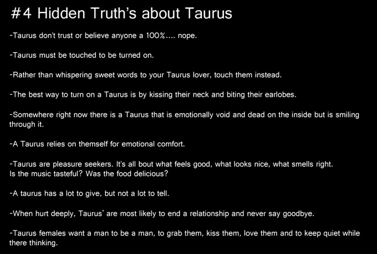 taurus, #4 hidden truths about taurus