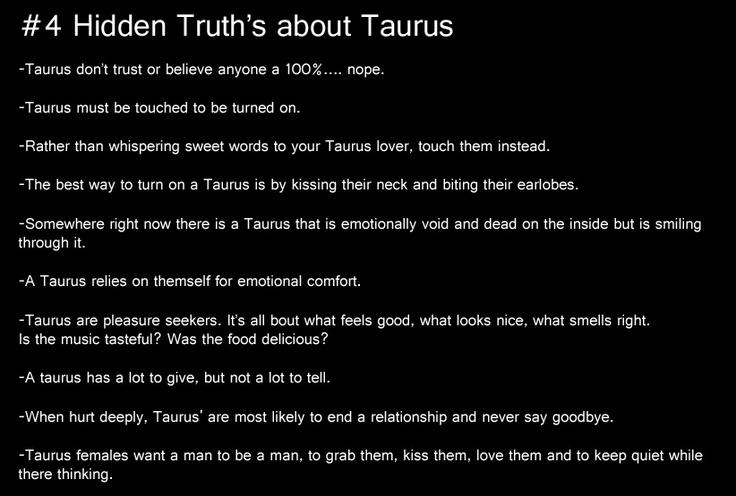 taurus, #4 hidden truths about taurus