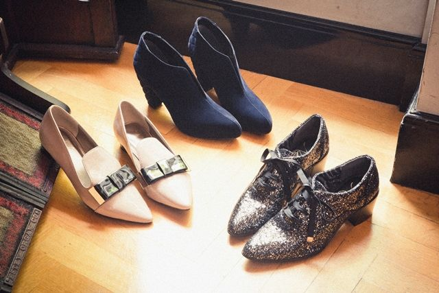 Bootee ¥14,700 Ribbon Shoes ¥12,600 Lace-up Shoes ¥12,600
