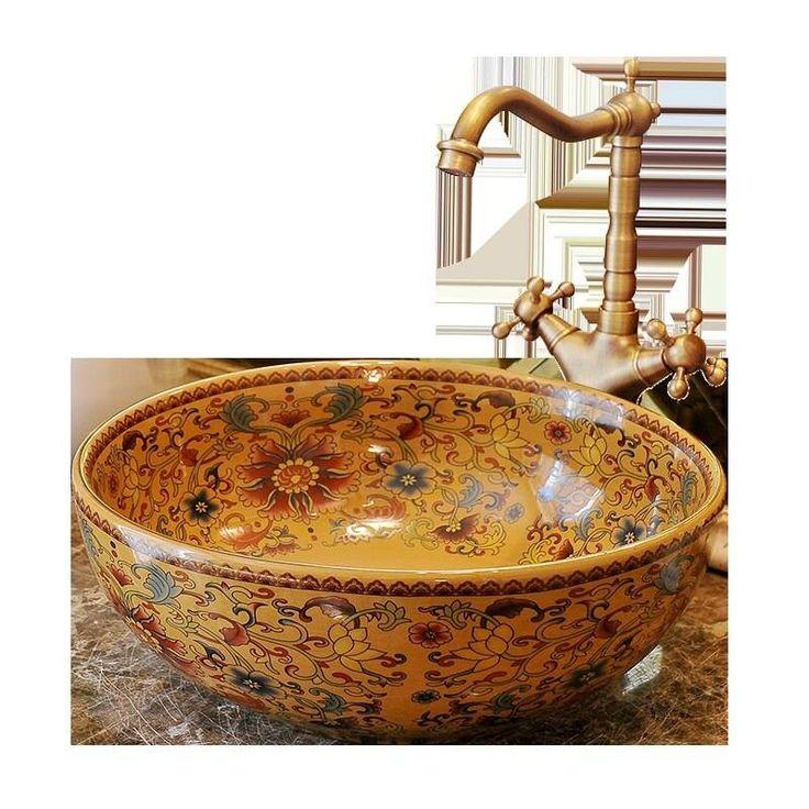 Ceramic Sink Wash Basin Ceramic Counter Top Wash Basin Bathroom Sinks Bathroom Vanities And Sinks Antique In 2021 Ceramic Sink Bathroom Sink Vanity Wash Basin
