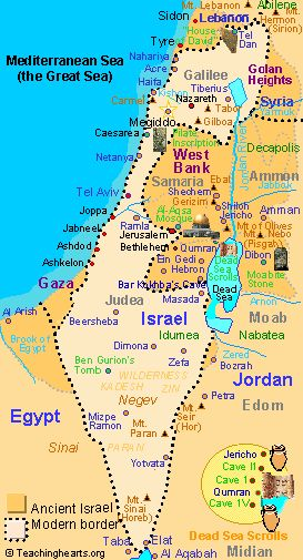 Map of modern Israel
