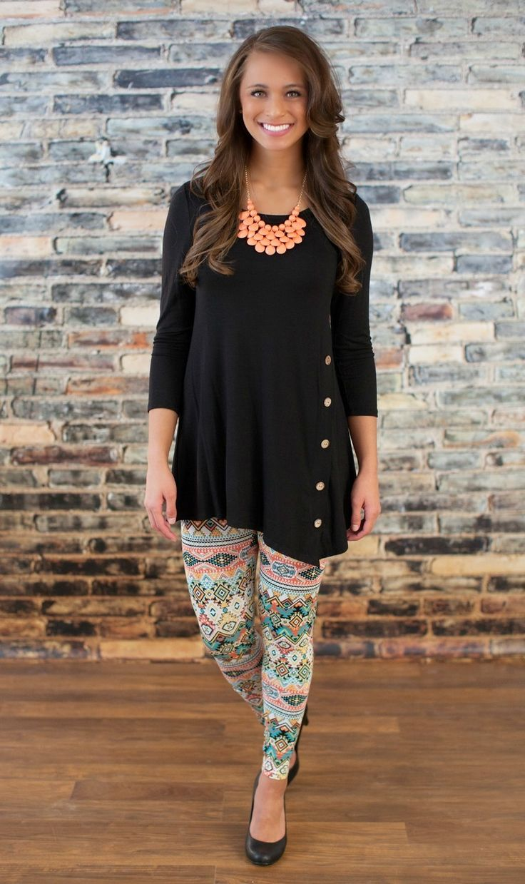 The Pink Lily Boutique - Only The Best Aztec Leggings Coral, $20.00 (http://thepinklilyboutique.com/only-the-best-aztec-leggings-coral/)