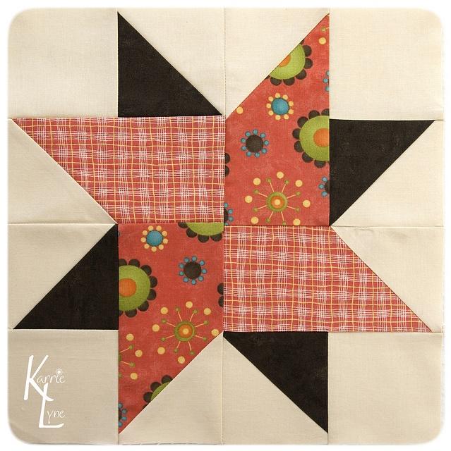 Pinwheel Block #16 by KarrieLyne, via Flickr