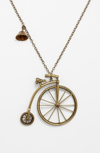 Nordstrom 'Antique Conversation' Bicycle Pendant Necklace | Nordstrom