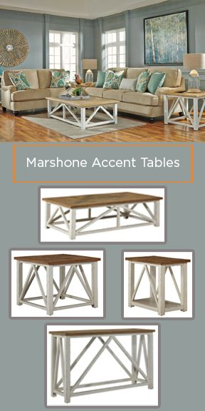 Marshone Accent Tables are a great way to add a vintage feel to your room's design.