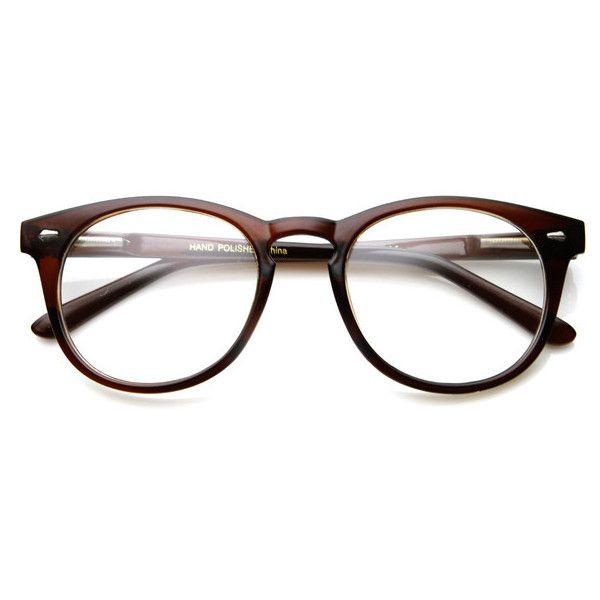 Classic Vintage Era Round P3 Clear Lens Optical Glasses 8712 ($9.99) ❤ liked on Polyvore featuring accessories, eyewear, eyeglasses, glasses, sunglasses, wayfarer eyeglasses, vintage eye glasses, clear lens glasses, retro eyeglasses and wayfarer sunglasses
