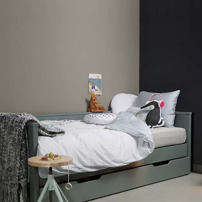Woood Sofabett Nikki Kiefernholz - Kinderbett in Jadegrün