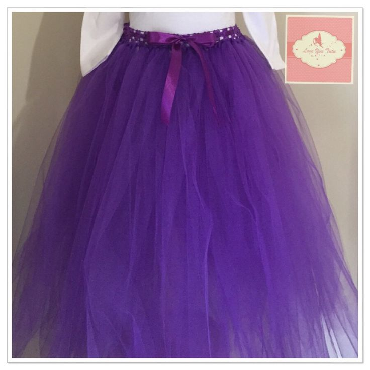 Long purple tutu skirt  Available to purchase on our website www.loveyoututu.com.au