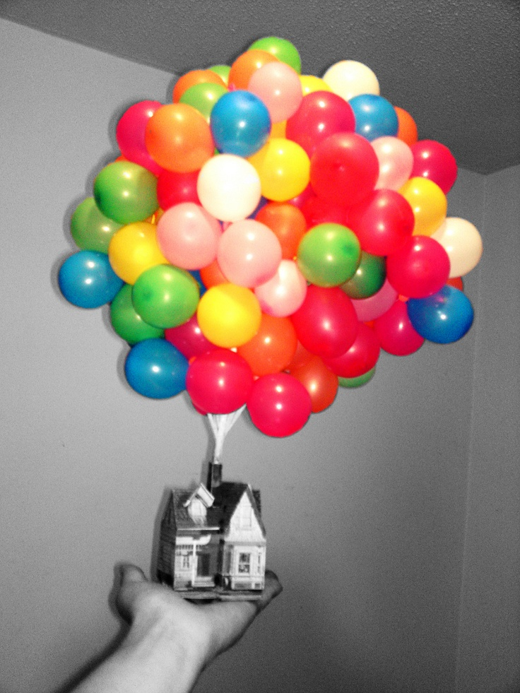 Disney's Up House made by me as a birthday present... Paper and balloons made.