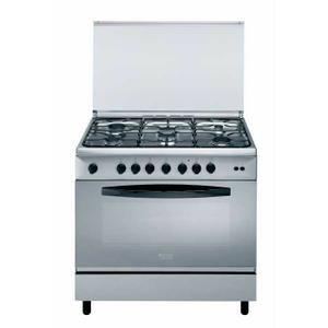 Cuisinière Gaz - Largeur 90 cm - 6 brûleurs gaz - Sécurité gaz - Four Gaz - Volume 119 L - Nettoyage manuel - Convection naturelle