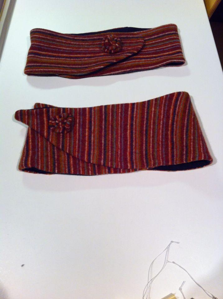 Ørevarmere af tidligere sweater.