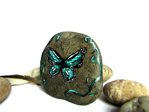 Butterfly painted rock, butterfly room decor, butterfly decorations, butterfly garden, butterfly art, butterfly gift, wife gift, for wife