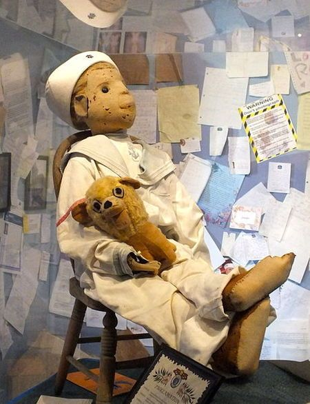 . The doll had been given to him by a servant who practiced black magic, and who disliked the boys' family. The little boy adored his doll, and would often talk to him at length. Servants in the Otto home became concerned, however, when they swore they could hear a phantom voice talking back to the boy, and neighbors claimed to have seen the doll moving from window to window in the Otto house when no one was at home
