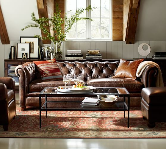 Best 25 Pottery Barn Leather Sofa Ideas On Pinterest
