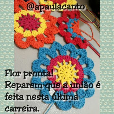 Canto do Pano Artesanato: Cortina/Bandô flores em crochê com Pap