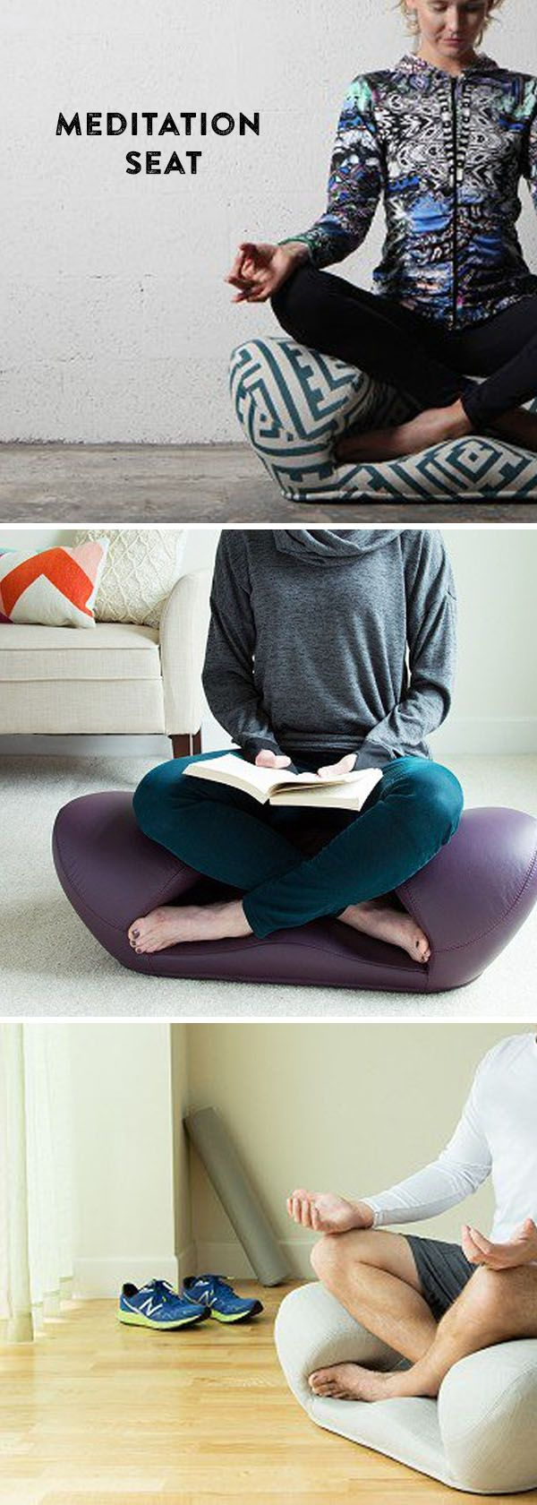 Meditate, relax, or work in comfort. The unusual lotus-inspired design supports you in all the right places—to sit up straighter and maintain better posture.