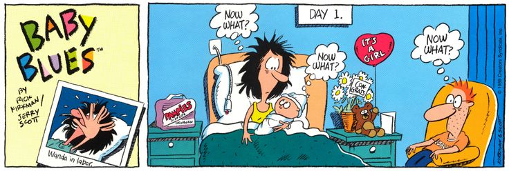 1/7/90 - The First Baby Blues Comic Strip!