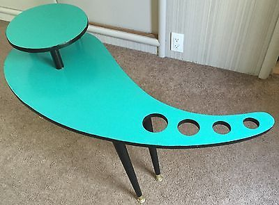 VTG-50s-WOOD-BOOMERANG-COFFEE-TABLE-MID-CENTURY-MODERN-RETRO-GOOGIE-ATOMIC-ERA