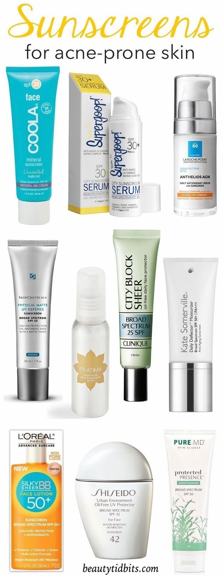 Best Sunscreens for AcneProne Skin Follow me, Sunscreen