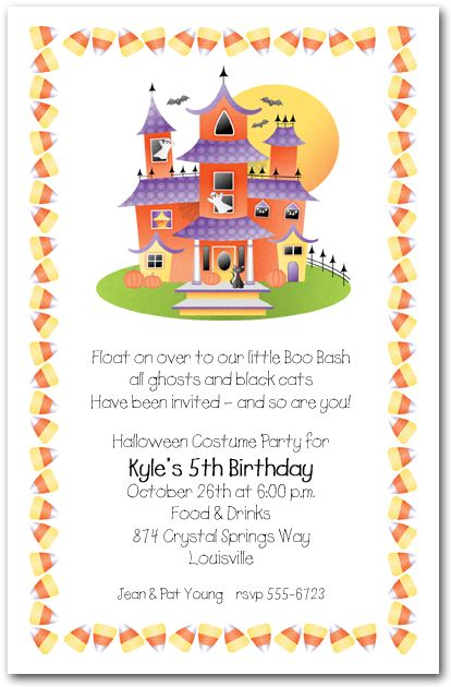 97 best images about Halloween Invitations – Kids Halloween Party Invites