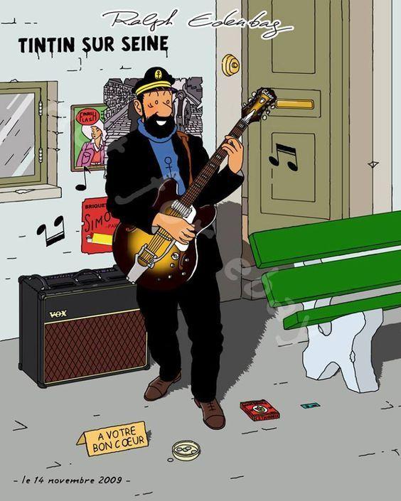 Les Aventures de Tintin - Album Imaginaire - Tintin sur Seine