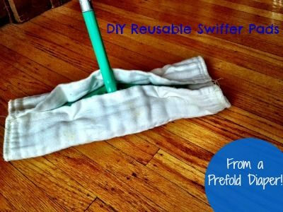 #Reusable Swiffer Pads Easy No-Sew #DIY - From a Prefold Diaper