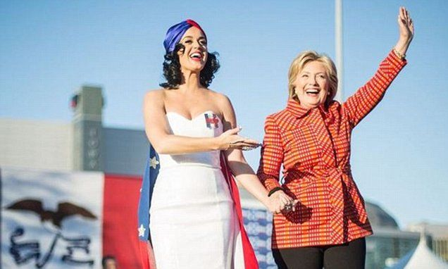 Public records indicate that Perry's production company, Kitty Purry Inc, was paid $70,000 in December from the coffers of the Hillary for America campaign for helping stage an event.