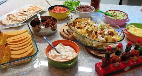 Receitas diversas para uma noite mexicana