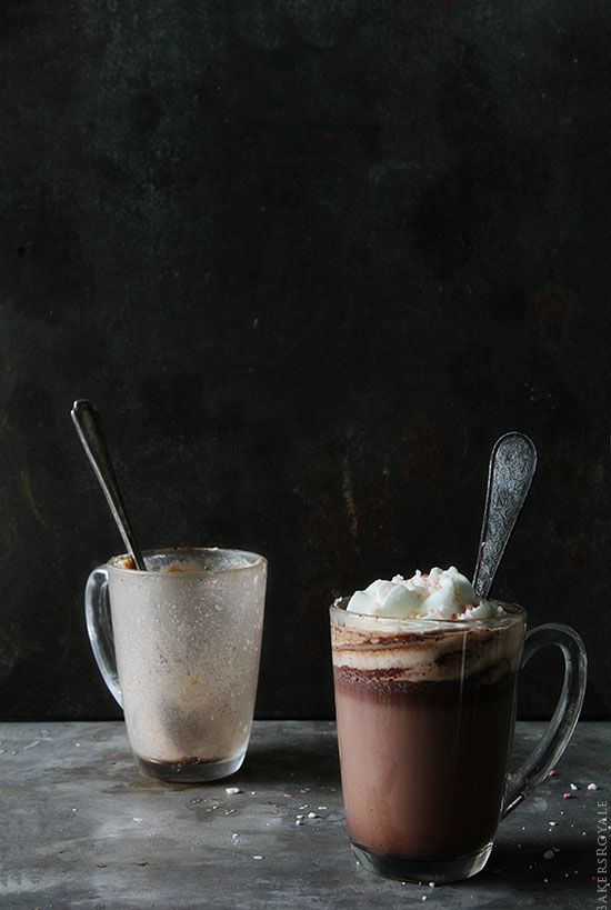 Peppermint Hot Chocolate via Bakers Royale @Bakers Royale | Naomi