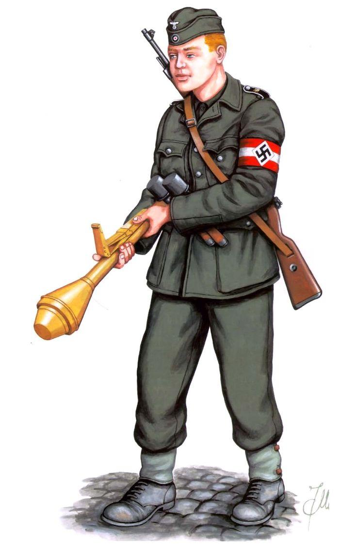 Berlin 1945, Hitlerjugend with 7.92mm Mauser 98K, grenades ...