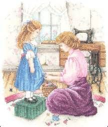 """Bound By Love ~ A Mother's Love Leaflet"" a cross stitch pattern by Paula Vaughan."
