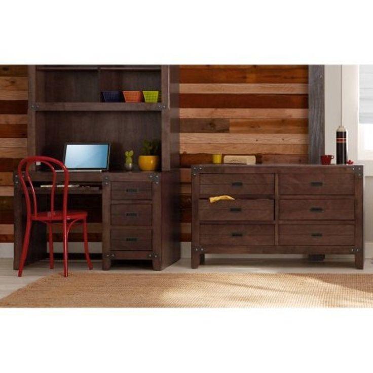 Rustic Kids 6-Drawer Dresser Union Station Furniture Bedroom Storage Cherry #BetterHomesGardens #RusticPrimitive