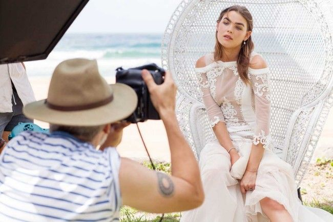 Vogue Brides editorial with Bambi Northwood-Blyth and Dan Single.  Image: Nicole Cooper.
