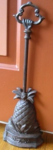 Iron Pineapple Door Porter Doorstops Door Stop Home Decor Pineapples Gifts | eBay