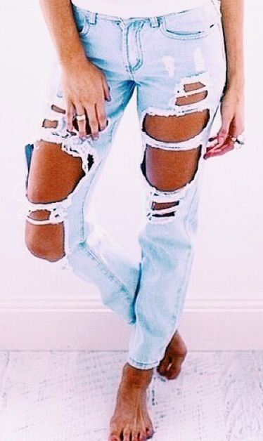 Ripped Jeans… just the jeans not the pose