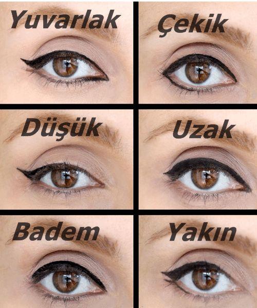 Göz şekillerine göre eyeliner sürme teknikleri: https://www.oriflamekatalogum.com/goz-sekillerine-gore-eyeliner-surme-teknikleri.html #Oriflame