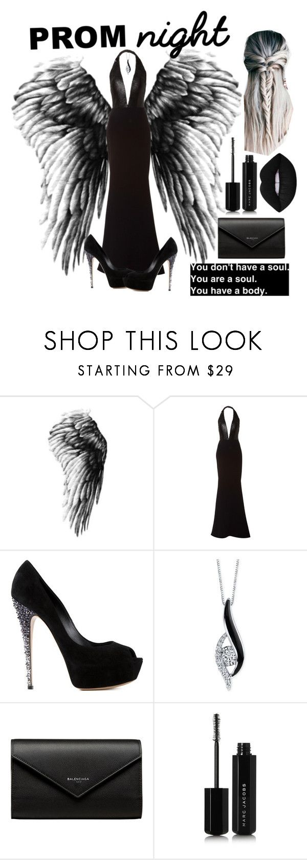 """Dark angel~ women's fashion set #67"" by kawaiithedxno ❤ liked on Polyvore featuring Romona Keveža, Casadei, Sirena, Balenciaga and Marc Jacobs"