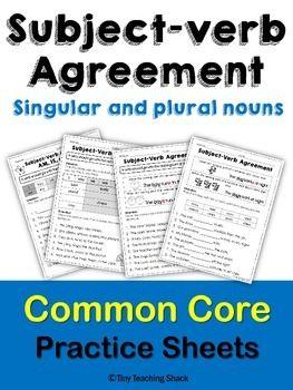 8 best ela subject verb agreement images on pinterest subject subject verb agreement practice sheets platinumwayz