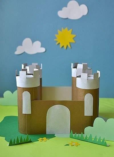 замок из картонных втулок 1