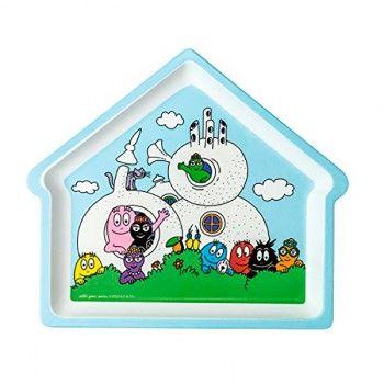 Plato forma de casa Barbapapá