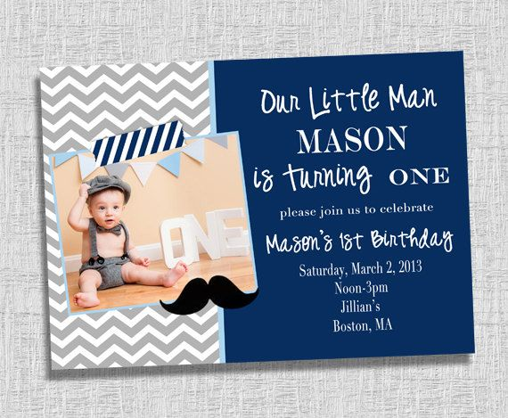 our little man is turning one invitation