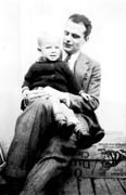 PKD, age 1, with father Edgar - all'età di 1 anno con il padre