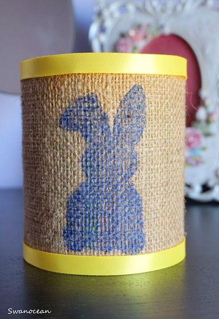 DIY Easter can decoration-Κάνε μόνος σου Πασχαλινό τενεκεδένιο διακοσμητικό