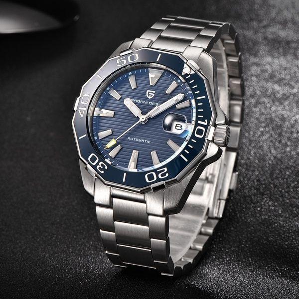 Gift Pagani Design Luxury Brand Automatic Self Wind Mechanical Auto Date Luminous Men Sport Wrist Watches With Gift Box Wish Classic Watches Men Watches For Men Luxury Watches For Men