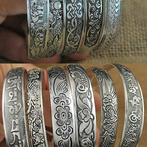 Silver bangles #asharlah
