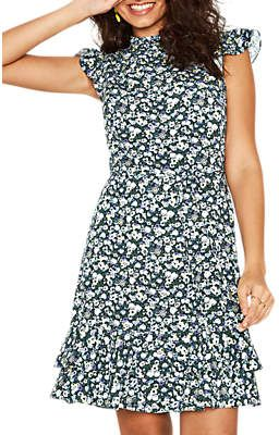 09467dba81b5 Oasis Ditsy High Neck Skater Dress, Multi | Women's Hot Fashion ...