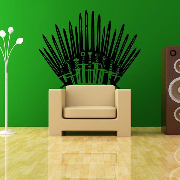 New Als Game of Thrones Fan kannst du mit diesem Wandtattoo aus deinem Sessel ganz einfach einen