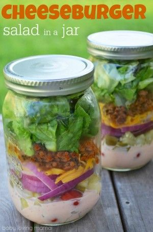 Cheeseburger-Salad-in-a-Jar