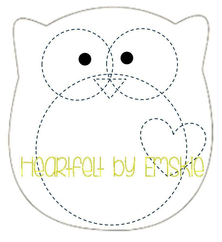 Image gallery for : felt template owl